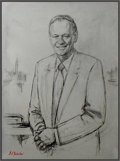 Portrait of Jean Chretien - 20th Prime Minister of Canada, portrait by Igor Babailov, Collection: Power Corporation of Canada