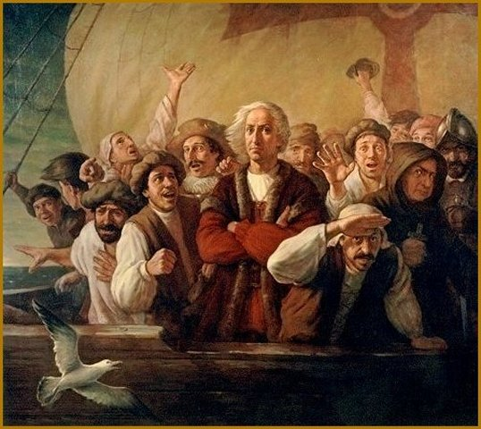 "Christopher Columbus Portrait, painting ""For Gold, God and Glory"" by Igor Babailov"