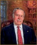 Portrait of Dr. Cyril Geacintov, by Igor Babailov. The Ellis Island Medal of Honor recipient,CEO and President of DRG International, Inc., President of the Russian Nobility Association of America