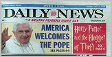 New York Daily News, Portrait of Pope Benedict XVI by Igor Babailov