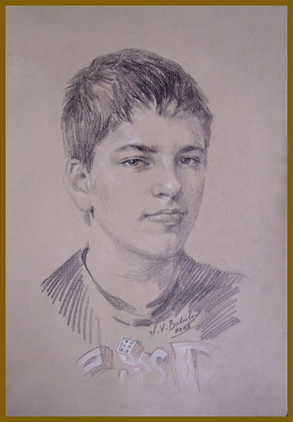Daniel Knecht, drawing by Igor Babailov