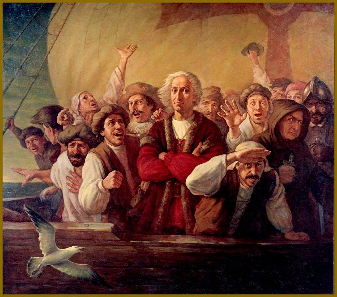 "Portrait of Christopher Columbus, painting ""For Gold, God and Glory"" by Igor Babailov"