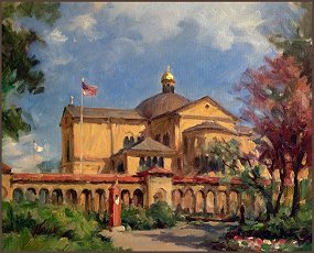 Franciscan Monastery of the Holy Land, painting by Igor Babailov