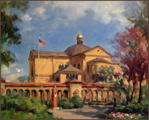 Franciscan Monastery of the Holy Land in America, painting by Igor Babailov