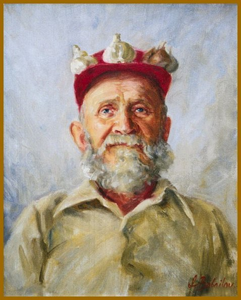 The Garlic Man - portrait of Ted Maczka, by Igor Babailov