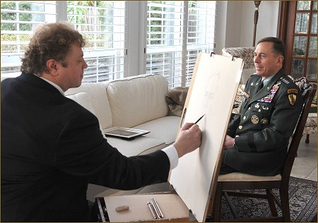 General Petraeus Portrait Sitting