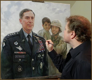 Legacy Portrait painting of General David H. Petraeus, by Igor Babailov