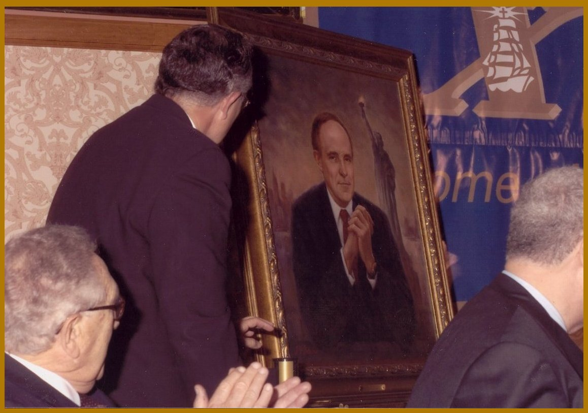 Rudy Giuliani - Portrait Unveiling, Henry Kissinger, New York City