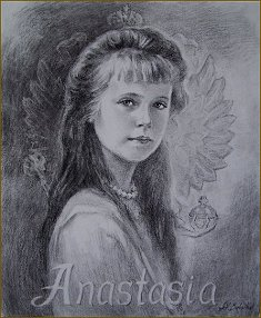 Portrait of Grand Duchess Anastasia, by Igor Babailov