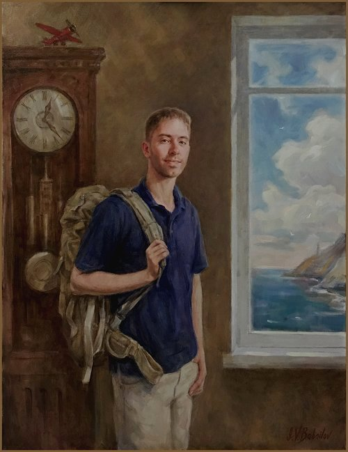"""From Home to the Marines""- Portrait of Grant Gibbs, by Igor Babailov"