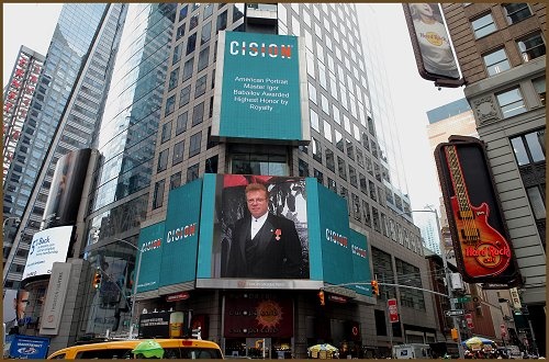 Igor Babailov, on the Billboard in Times Square
