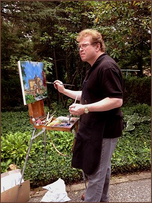 Igor Babailov portrait, painting Franciscan Monastery of the Holy Land in America