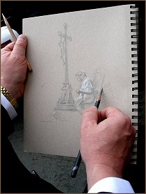 Portrait sketch of Pope Francis, by Igor Babailov