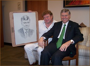 "Portrait of Tom Monaghan - Founder ""Domino's"" Pizza, Founder Ave Maria University"