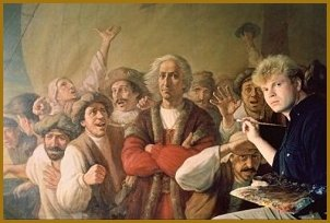"Portrait of Christopher Columbus, painting ""For Gold, God and Glory"", by Igor Babailov"