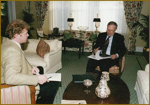 Portrait of Prime Minister Jean Chretien - portrait sitting with Igor Babailov