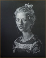 Portrait of Jasmin, drawing by Igor Babailov