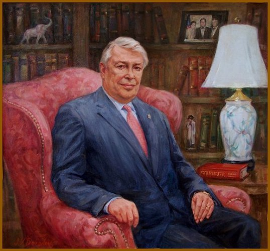 Portrait of Ted Lazenby, Nashville,TN, appointed by President Bush to Advisory Board, Kennedy Center for the Arts. Artist Igor Babailov