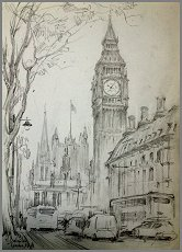 London -  Drawing by Igor Babailov