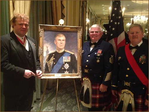 Portrait of HRH Prince Andrew The Duke of York - Military Ball