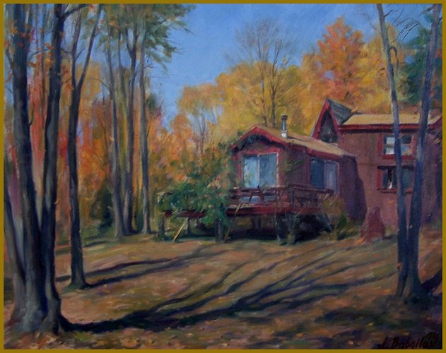Morning shadows, Autumn in New Hamphire, House-studio of artist Richard Whitney, by Igor Babailov