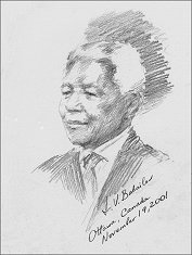 Portrait of Nelson Mandela, by Igor Babailov