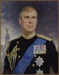 Portrait of Prince Andrew, by Portrait Artist Igor Babailov, Royal Portraits by Portrait Artist Igor Babailov, Portrait of HRH Prince Andrew