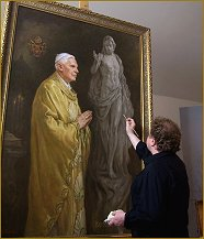 Portrait of Pope Benedict XVI, by Igor Babailov
