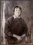 "Portrait of Peter Quaife, founding member and basist of ""The KINKS"", by Igor Babailov"