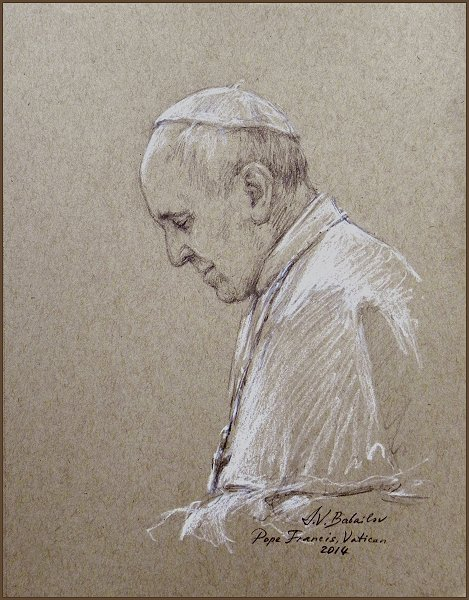 Official Portrait Study of Pope Francis, by Igor Babailov