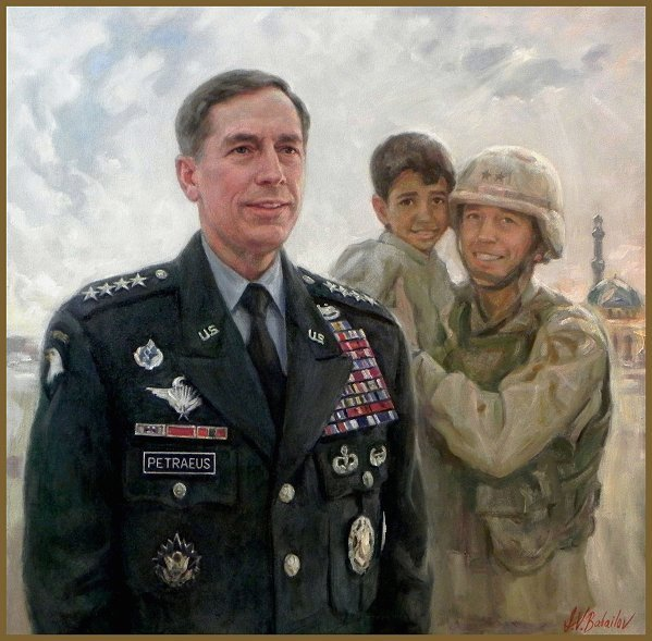 Portrait of General David H. Petraeus, by Igor Babailov, Military Portraits, Official collection: West Point Academy Museum.