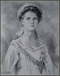 Portrait of Grand Duchess Maria N. Romanova, by Igor Babailov