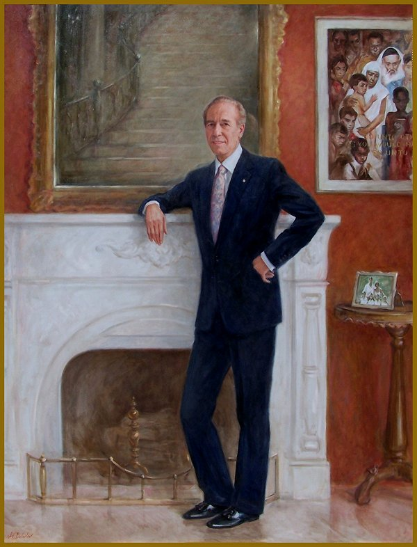 Four Seasons, Portrait of Isadore Sharp - official corporate portrait by Igor Babailov, Four Seasons Hotels & Resorts, Corporate portraits