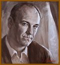 "Portrait of Actor James Gandolfini, ""The Sopranos"",  New York City, Portraits by Igor Babailov"