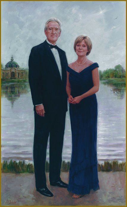 Portrait of Lynda and Jack Stone, Brentwood, TN, by Igor Babailov