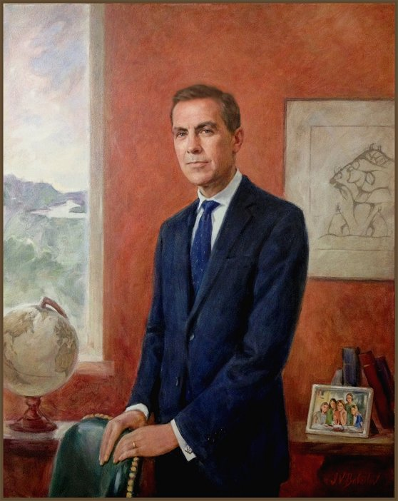 Official Portrait of Governor Mark Carney, by Igor Babailov