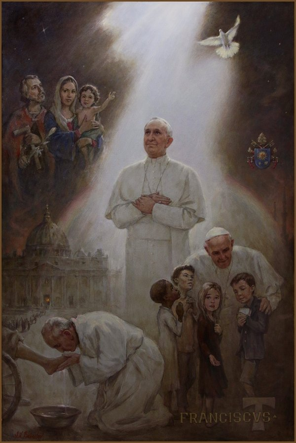 Official Portrait of Pope Francis, by Igor Babailov
