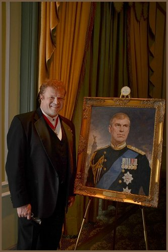 Portrait of HRH Prince Andrew The Duke of York, by Igor Babailov - portrait, 2013