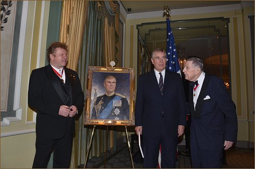 Portrait of HRH Prince Andrew The Duke of York, unveiled