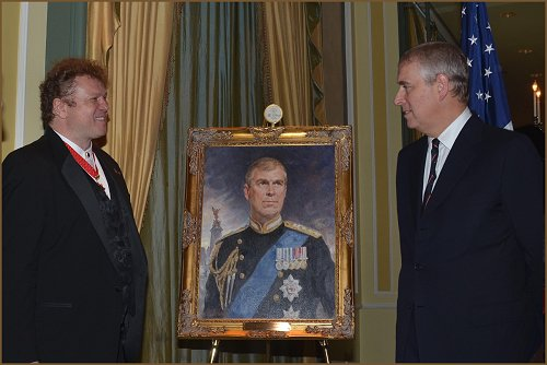 Portrait of HRH Prince Andrew The Duke of York and  Igor Babailov - portrait