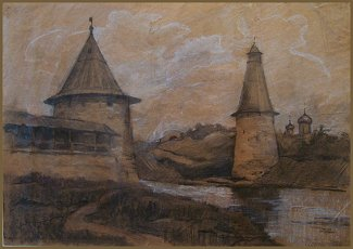 Pskov, Drawing by Igor Babailov