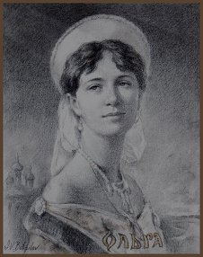 Portrait of Grand Duchess Olga, by Igor Babailov
