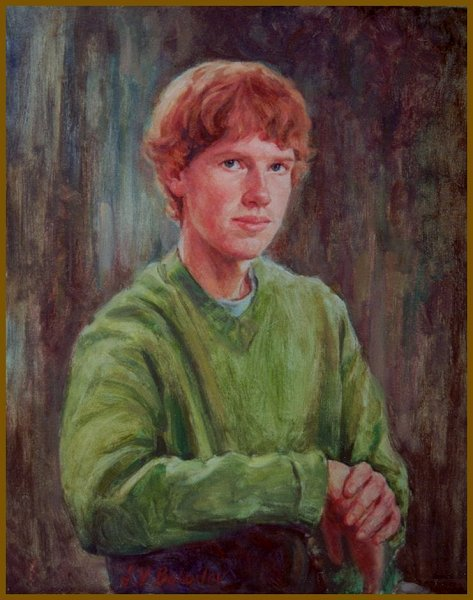 Portrait of Will Sullivan, oil on canvas, by Igor Babailov