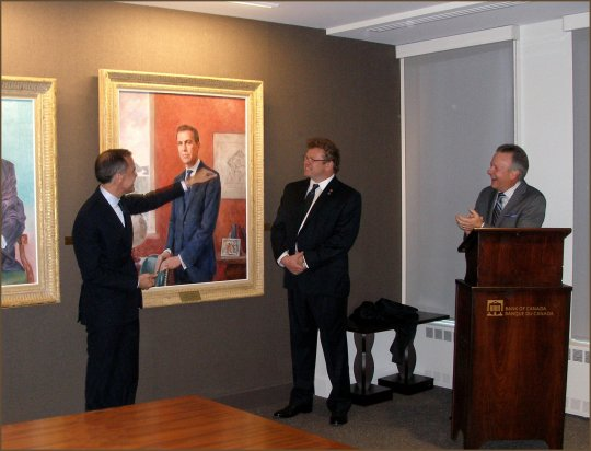 Governor Mark Carney Official Portrait Unveiling