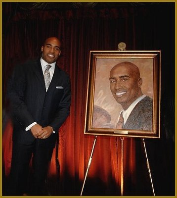 Portrait of Tiki Barber, portrait by Igor Babailov