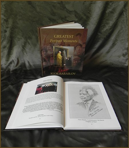 Igor Babailov Book, Greatest Portrait Moments - Igor Babailov, Nelson Mandela, New Art Book