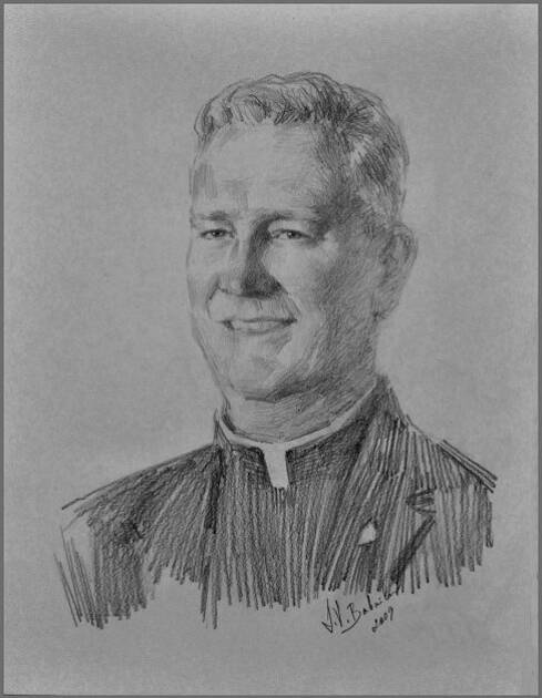 Fr. Robert Garrity, Ave Maria University, Drawing by Igor Babailov