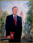 Portrait of President Curtis Simic, Indiana University Foundation, portraits by Igor Babailov